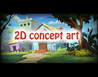 2D concept art