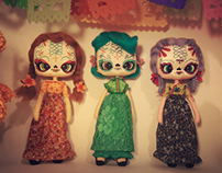 """Bonita"" Day of the dead dolls"