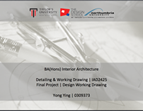 Interior Design Project 2: Detailing & Working Drawing