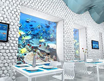 Aquarium Coffee Area 3D Proposal