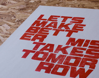 Let's make better mistakes...