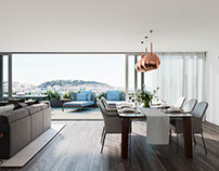 Architectural visualization apartment in Lisbon