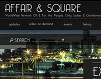 Affair & Square Web Site Design