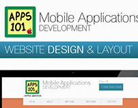 Apps 101 Store Web Site Design & Layout