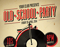 Old School Party Poster