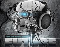 Future Sound Poster Print Template