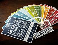 2014 Letterpress calendar . The creative manifesto
