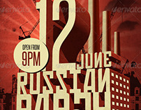 Russian Party Poster Print Template