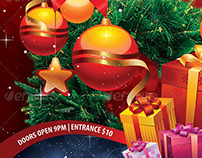 Christmas Party Flyer Print Template