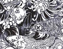 ComposizioneApiuBraccia - bic pen drawing