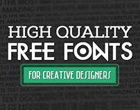 Free Fonts for Modern Web & Graphics