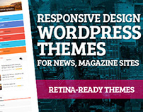 WordPress themes - retina-ready and responsive design