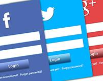 Psd Web Social Login
