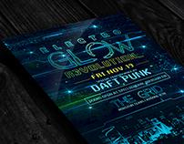 Electro Neon / Glow | Flyer + FB Cover