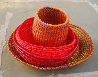 FABRIC CONSTRUCTION: Jalebi inspired baskets