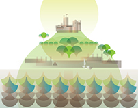 St Michael's Mount Graphic Illustration