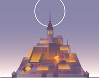 Mont St Michel. Tourism/promo poster