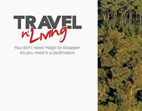 Travel n Living website design