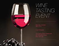 Emailer for A Wine Tasting Event