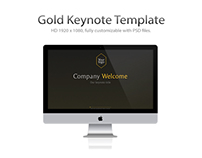 Gold Keynote Template