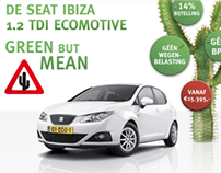SEAT IBIZA 1.2 ECOMOTIVE green but mean