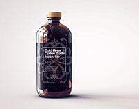 Squealer Bottle Mock-Up | Cold Brew Coffee Bottle
