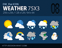 75 Flat ICONs (Weather)
