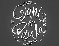 illustrations and lettering for wedding card