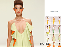 Nona. Fashion designer. A website.