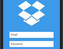 Dropbox redesign concept