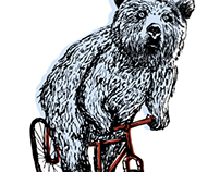 Bear On A Bike T-shirt