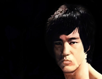 Bruce Lee - Digital painting.