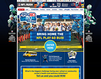 2013 NFL Bus Contest Website, Banners and Email Design