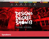 Design Degree Show 2013 website Design