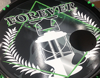 Forever I base drum decal