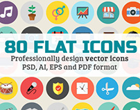 Vector Icons - 80 Fully Scalable Icons Set