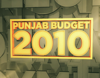 Punjab Budget 2010 Title Design for City42 News