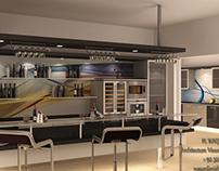 Bar Counter & Kitchen..