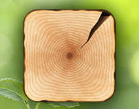 Wood icon for iPhone