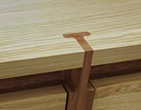 Detail wood- Assemblage buffet- Roche- Bobois