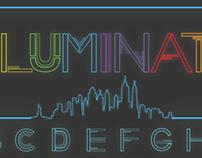 Font Design: Neon Font (Uppercase)
