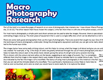 Macro Photography Research for Photo Essays