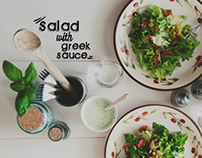 FOOD: Salad with greek sauce