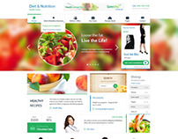 Diet & Nutrition Health Center Template