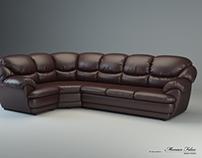 """Corner sofa """"Osvald"""". Creating 3D model."""