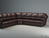"""Long corner sofa """"Osvald"""". Creating 3D model."""