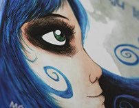 The Girl with Blue Hair (children's book illustrations)