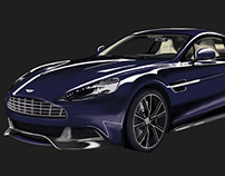 Aston Martin DB9 - Drawing