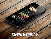 """Hands In the Air"" Web UI Layout"