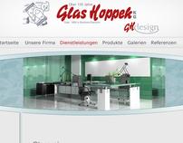 Website für Glashandel und Glasveredelung